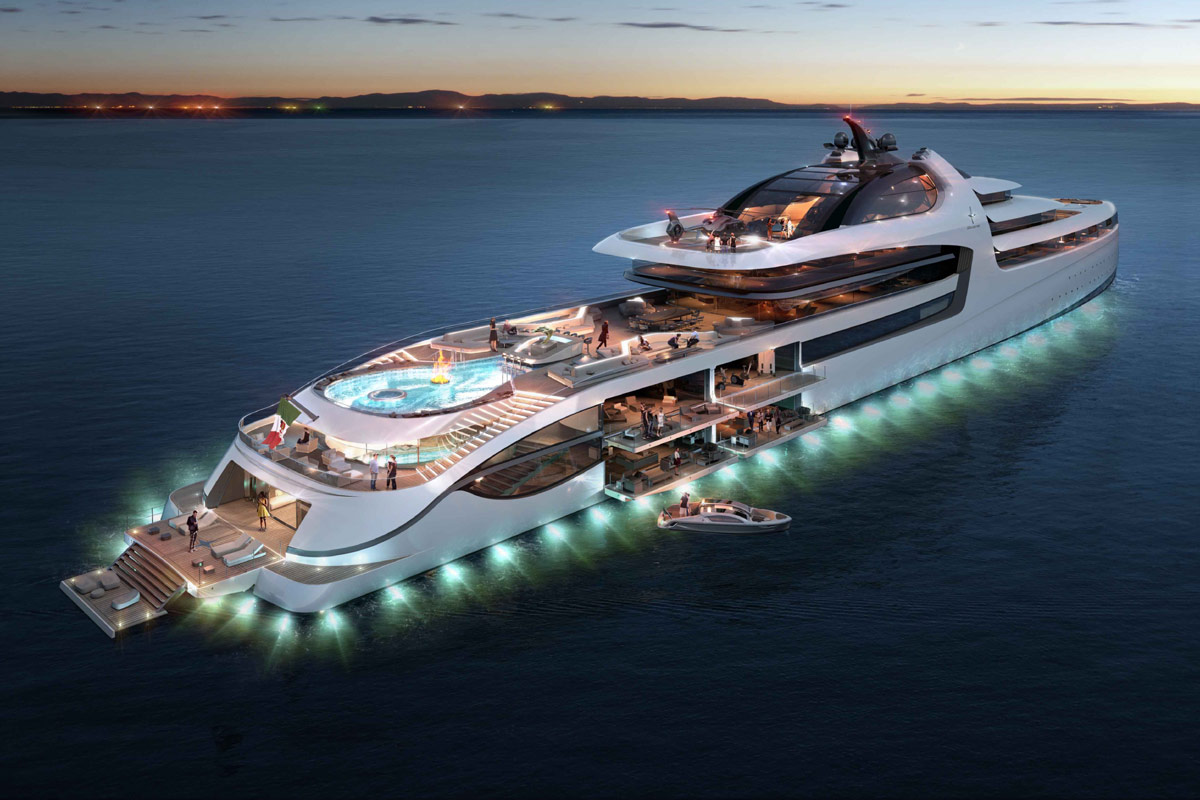 Luxusyacht F 252 R Milliard 228 Re Admiral Yachts X Force 145 Concept