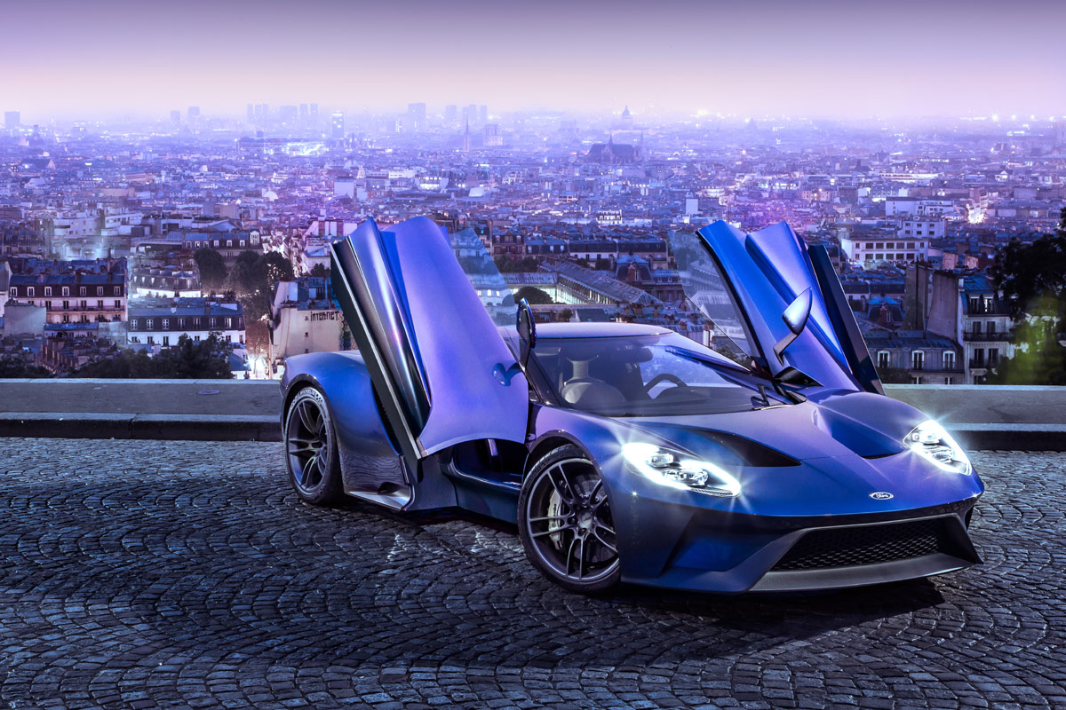 Auch der neue Ford GT mit mit einem V6-Biturbo daher. Allerdings mit über 600 PS.