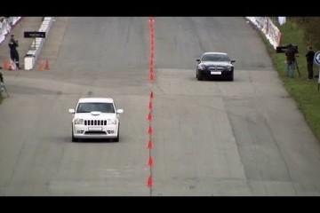 BMW M6 Evotech vs. Jeep Grand Cherokee SRT-8 (Dragtimes)