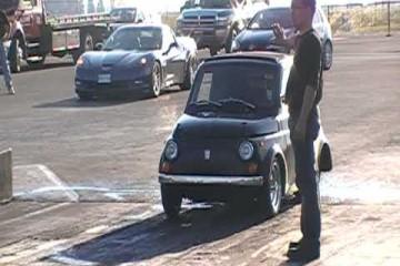 Fiat 500 Wheelie with Honda S2000 Power