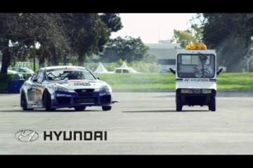Genesis Coupe Drift Car Heist from Hyundai Headquarters