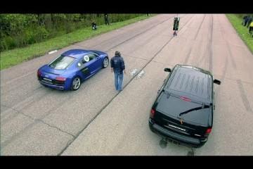 Video: Audi R8 V10 vs. Jeep SRT8 vs. Nissan GT-R