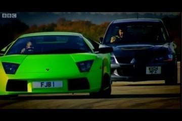 Video: Top Gear – Mitsubishi Lancer Evo vs. Lamborghini Murcielago