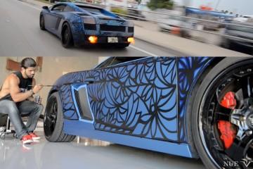 Video: Alexander Mijares bemalt Lamborghini Gallardo