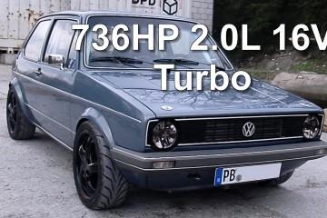 Video: VW Golf I 2.0 mit 736 PS von Boba Motoring