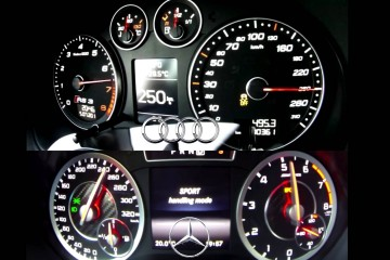 Video: Audi RS3 Sportback vs. Mercedes A 45 AMG (0-270 km/h)