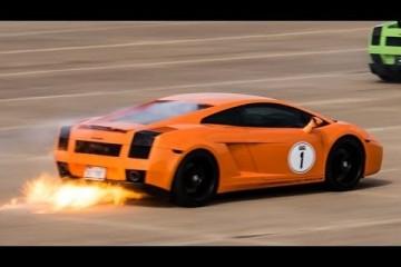 Video: Gallardo TwinTurbo fängt bei über 300 km/h Feuer