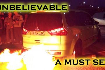 Video: Ford Galaxy als Flammenwerfer