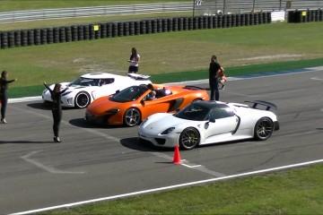 Video: Porsche 918 Spyder vs 650S Spider vs Koeningsegg Agera R