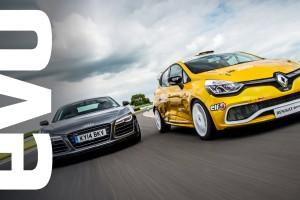 Audi R8 Plus vs Renault Clio Cup: Ungerecht? Und wenn, für wen?