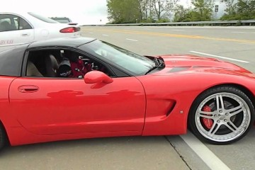 Video: Corvette beim Driftversuch