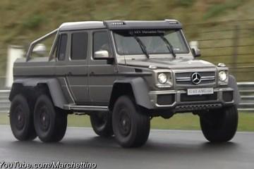 Video: Mit dem Mercedes G 63 AMG 6×6 über die Rennstrecke