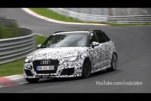 Video: Audi RS3 Sportback Erlkönig auf der Nordschleife unterwegs