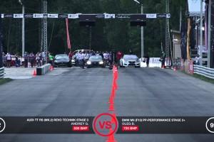 Video: Audi TT RS von Revo Technik vs. Corvette ZR1 und BMW M6