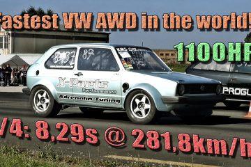 VW 16Vampir Golf 1 AWD mit neuem Rekord auf der Viertelmeile