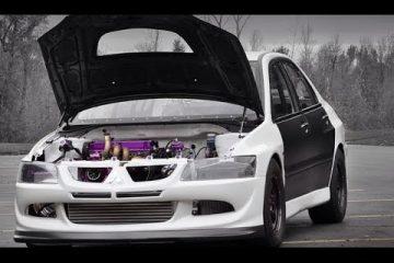Mitsubishi Evo mit neuem Rekord auf der Viertelmeile