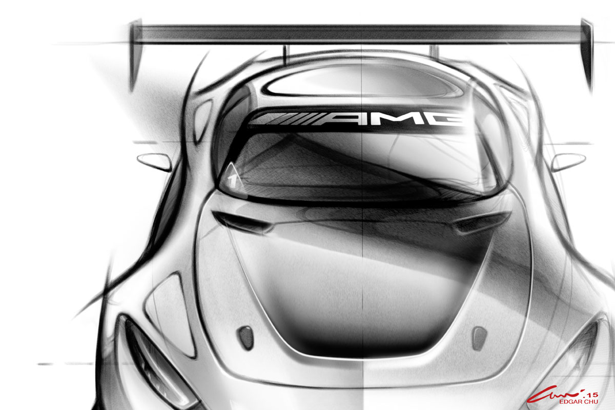 Mercedes AMG GT GT3 Skizzen 2015 (1)