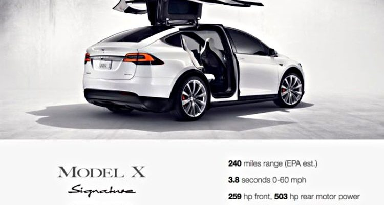 tesla model x preis und fahrleistung bekannt. Black Bedroom Furniture Sets. Home Design Ideas