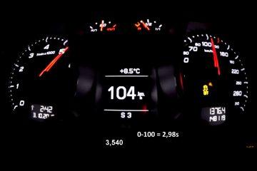 Audi TT RS Tacho