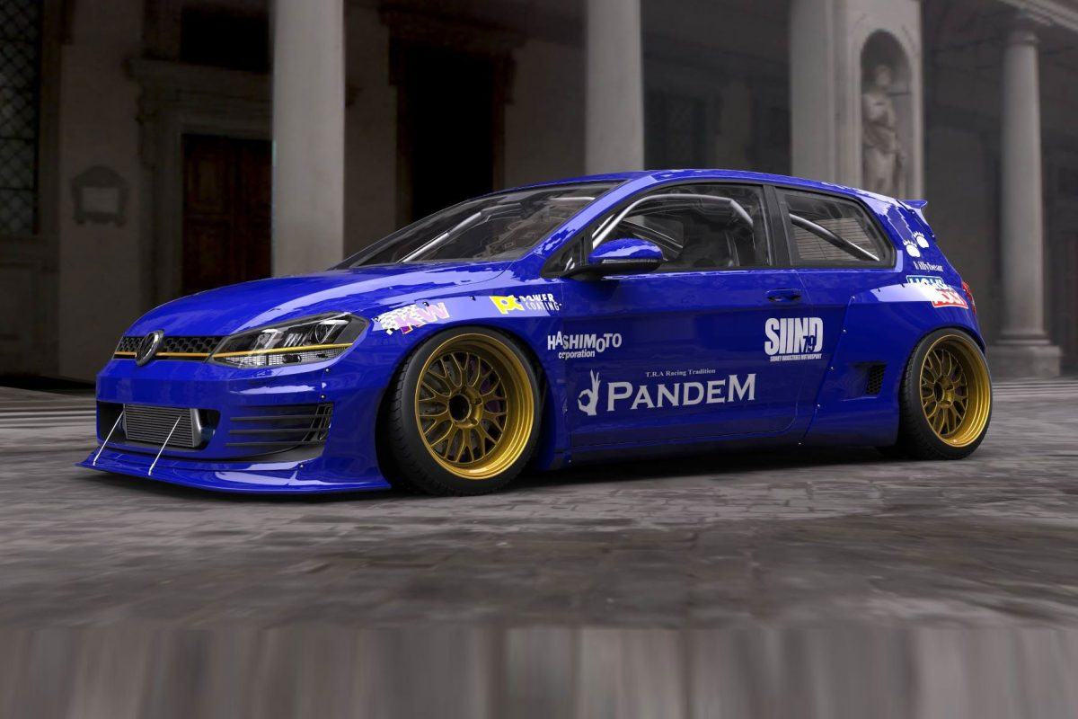 VW Golf VII Pandem Blister Rocket Bunny (3)