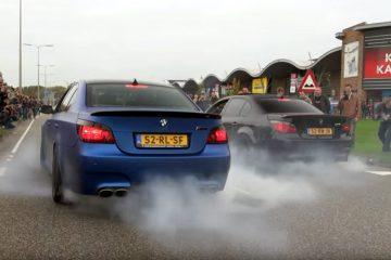 BMW M5 E60 Burnout Video