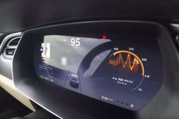 Tesla Model X Tacho