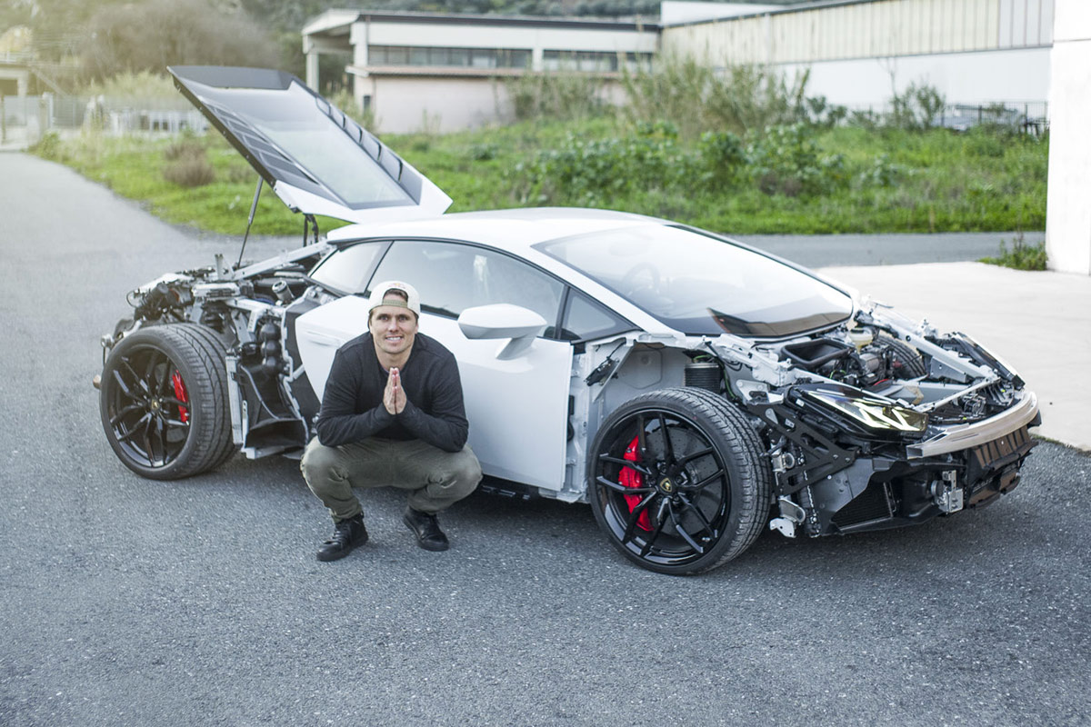 jon olsson umbau des lamborghini huracan hat begonnen. Black Bedroom Furniture Sets. Home Design Ideas