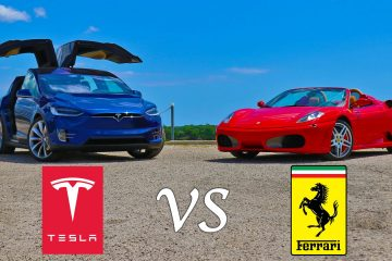 Tesla Model X vs. Ferrari F430 Spider