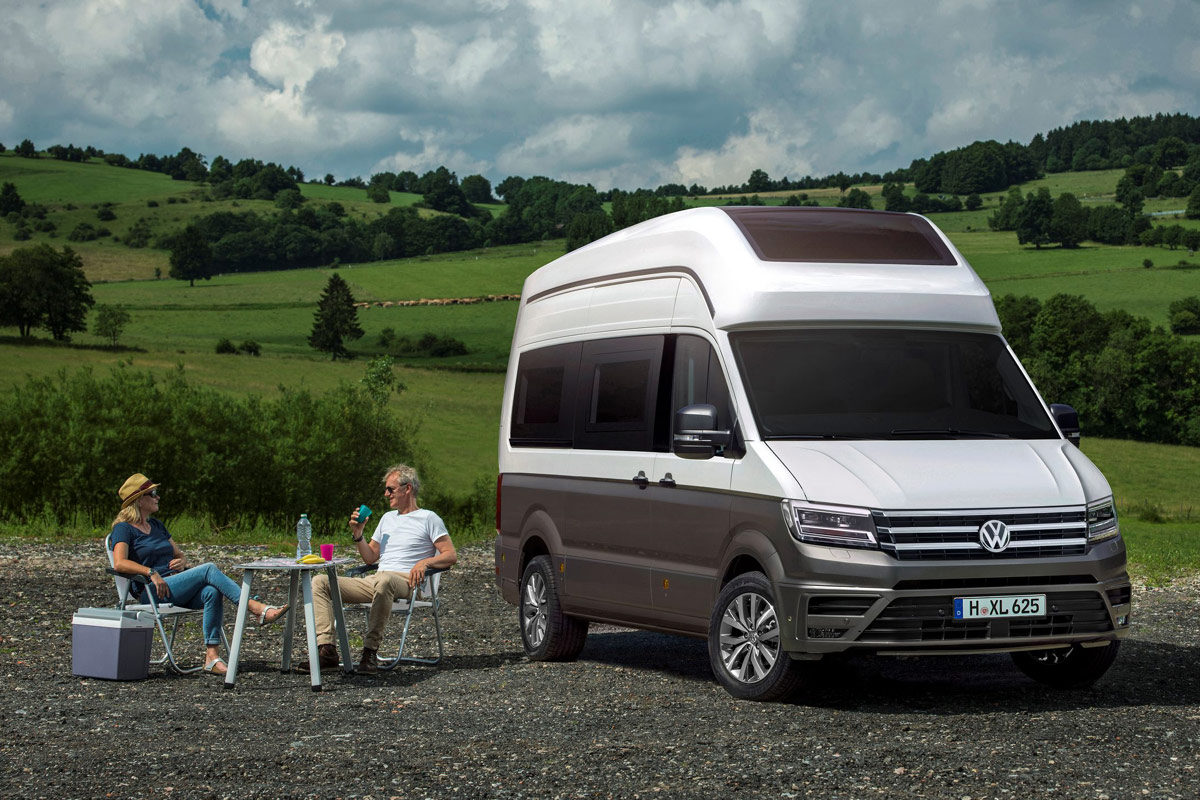 vw california xxl wohnmobil studie auf vw crafter basis. Black Bedroom Furniture Sets. Home Design Ideas