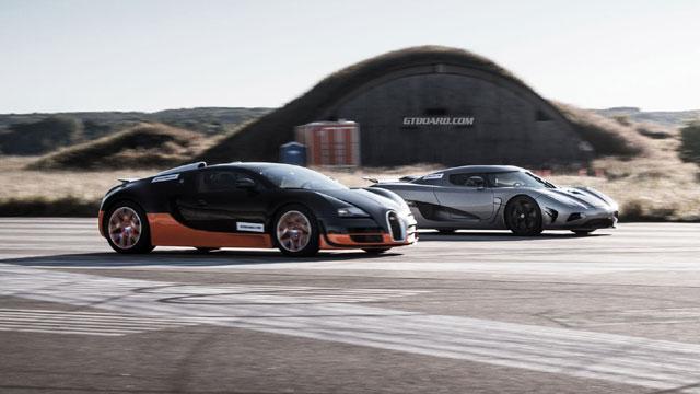 bugatti veyron grand sport vitesse vs. koenigsegg agera r