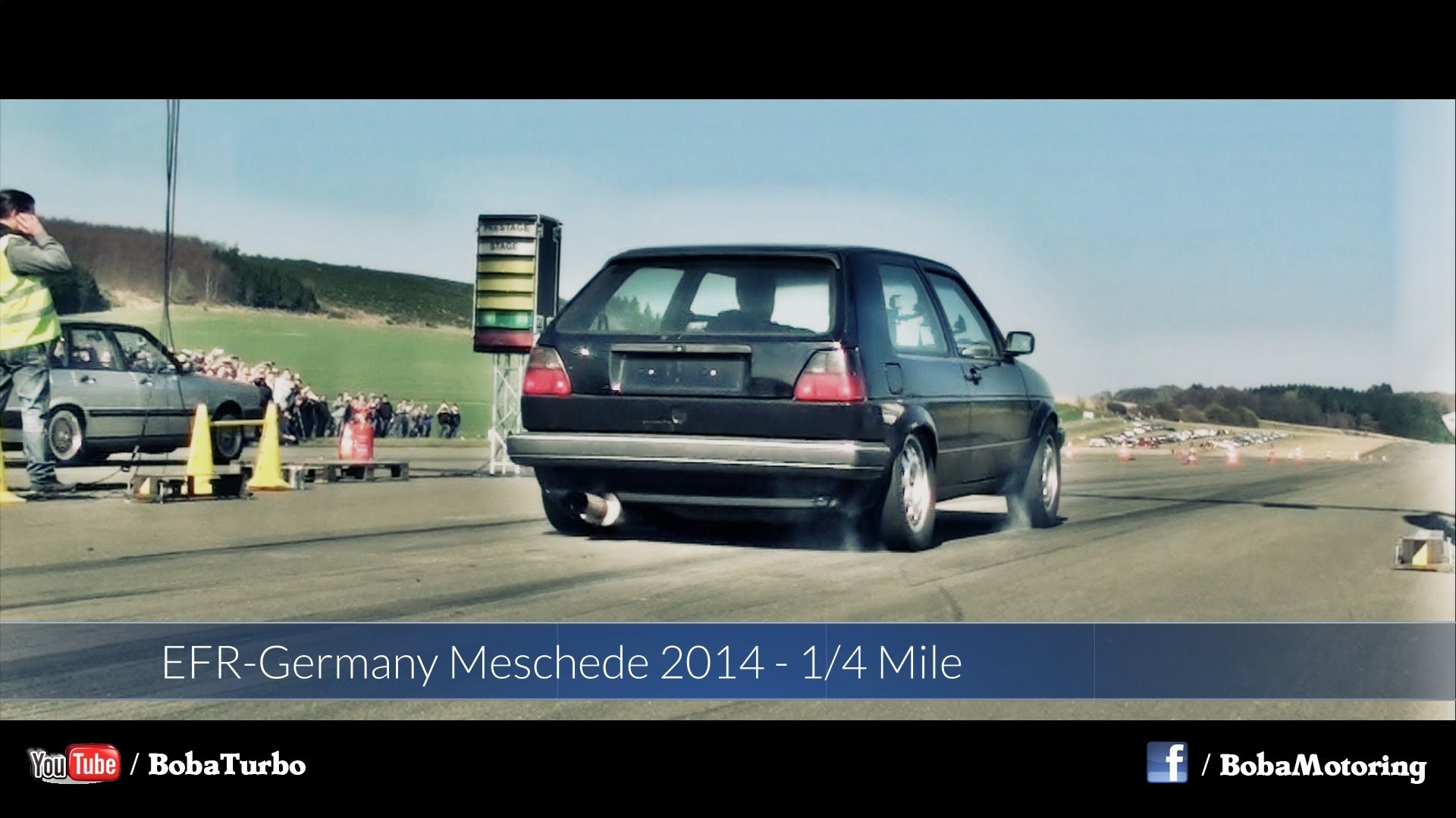 Video Vw Golf 2 Awd 1150 Ps Boba Motoring Auf Der 14 Meile In