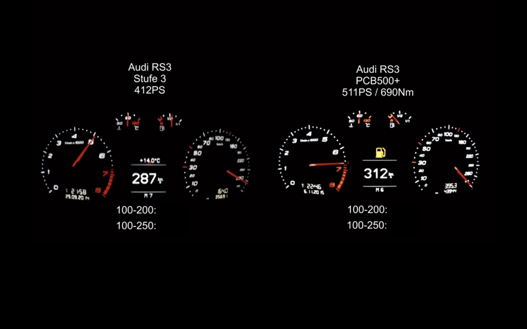 Video Im Audi Rs3 Mit 511 Ps Auf 252 Ber 300 Km H