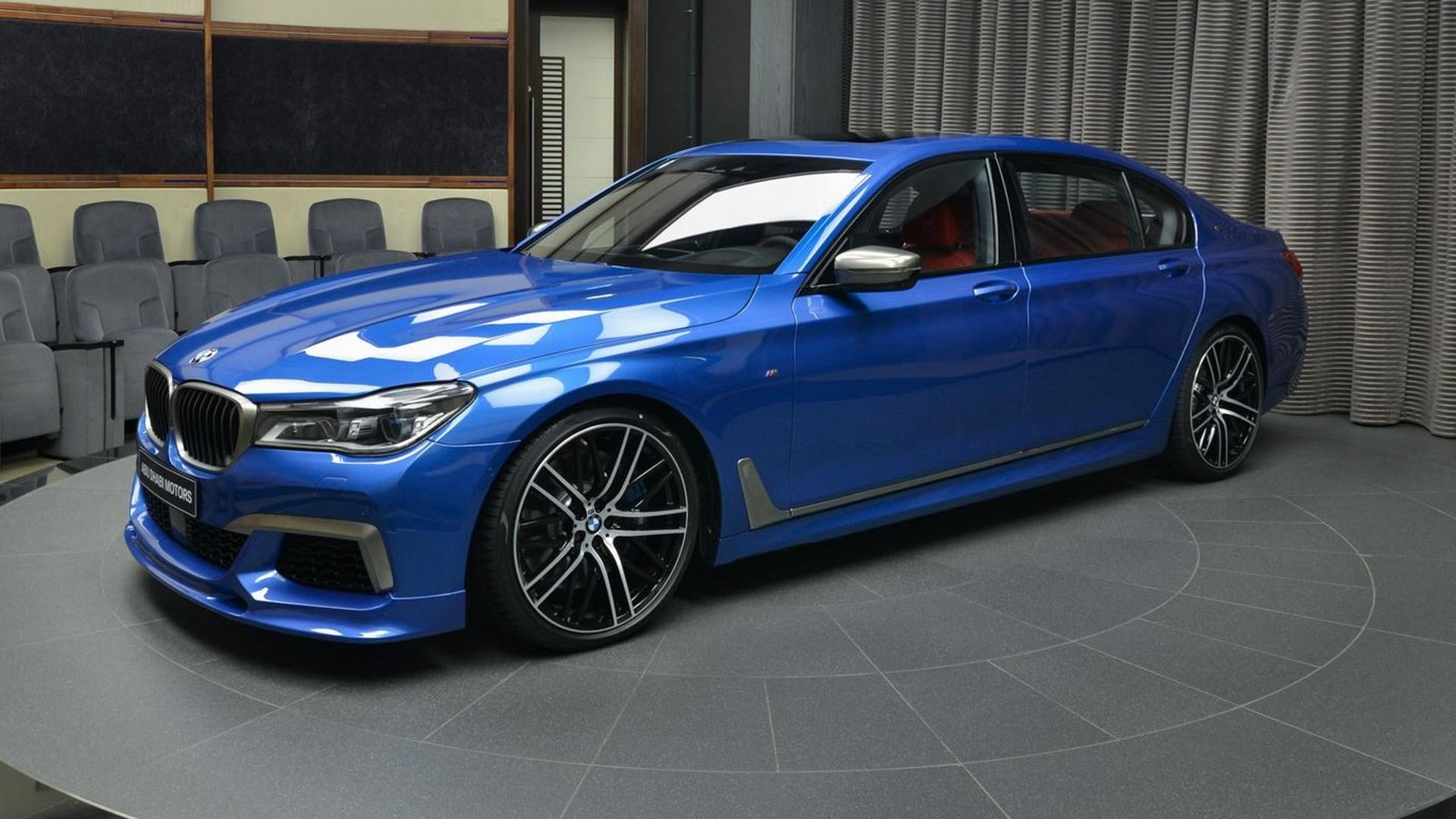 Blauer Riese Bmw M760li Xdrive In Estoril Blau